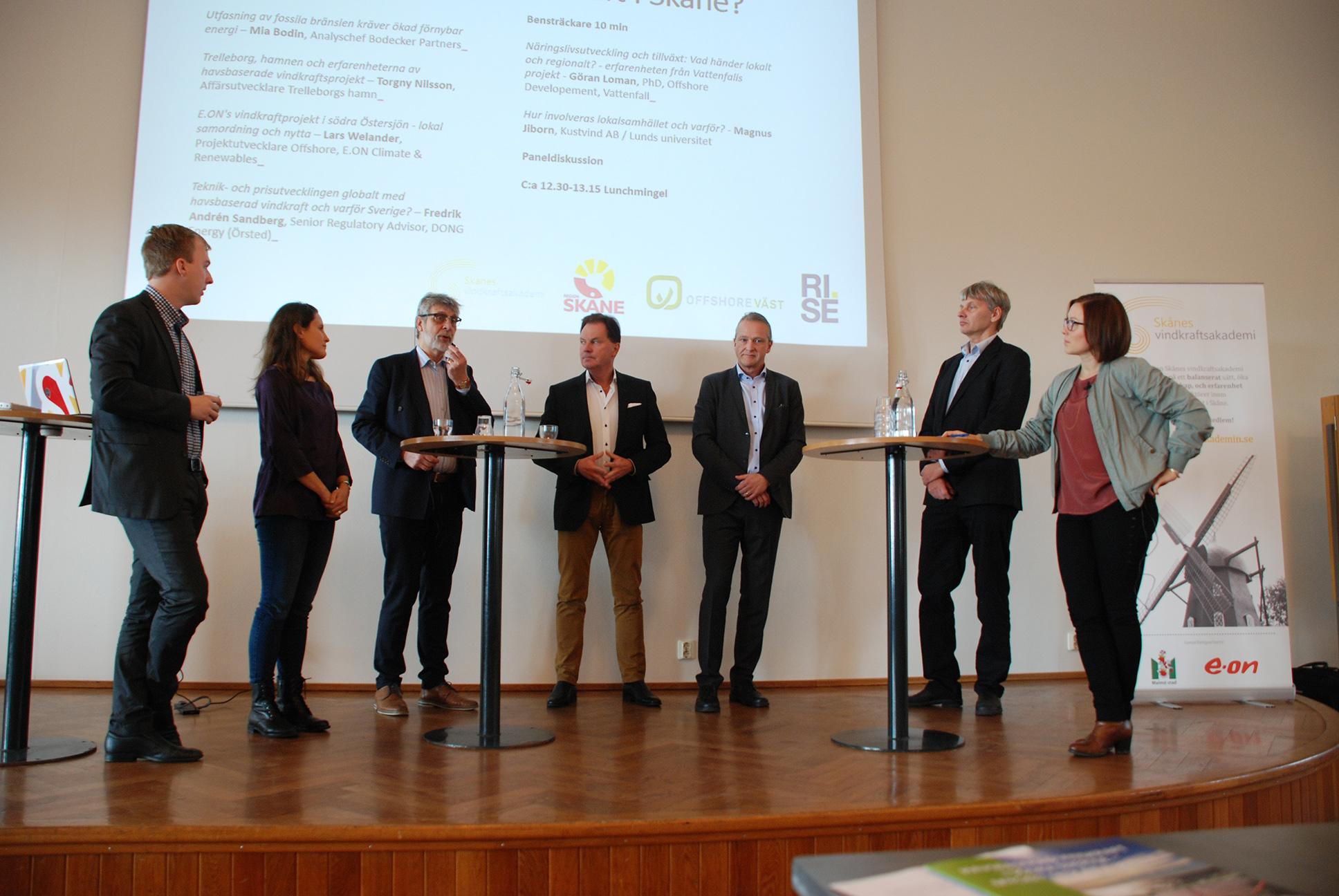 Expertpanel diskuterar havsbaserad vindkraft i Trelleborg