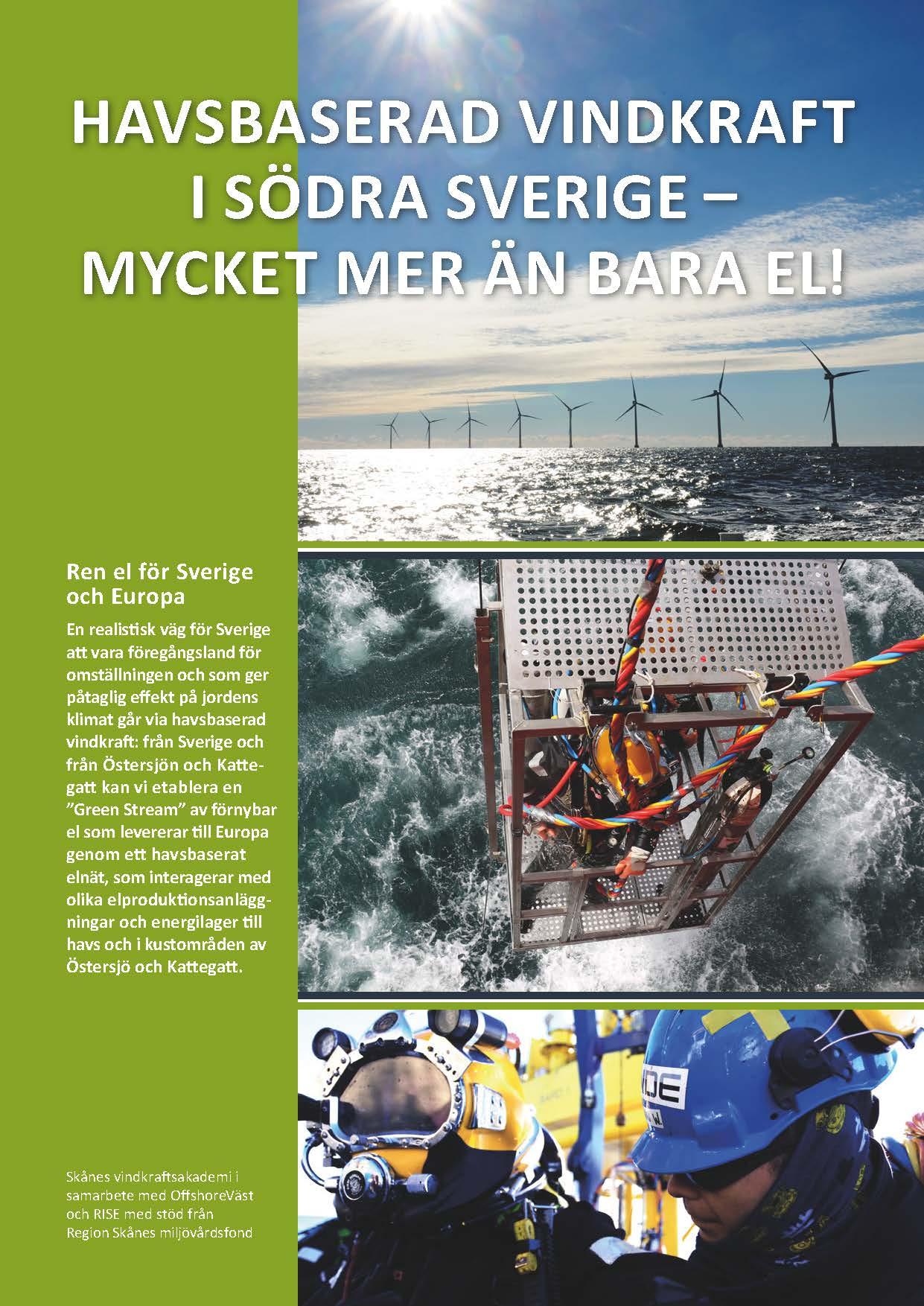 Folder Havsbaserad vindkraft i södra Sverige
