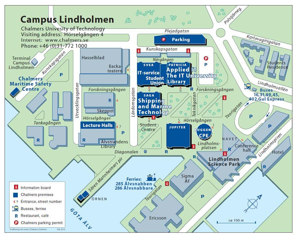 Karta för presentationsdagen