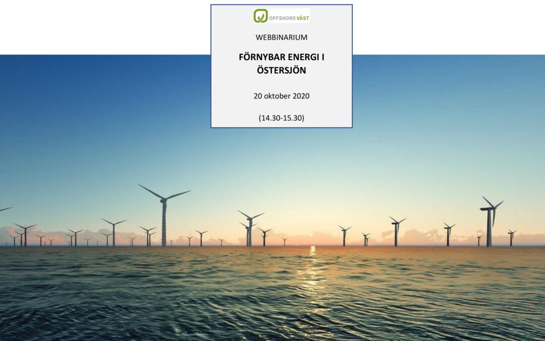 WEBBINARIUM FÖRNYBAR ENERGI I ÖSTERSJÖN *Uppdaterad*